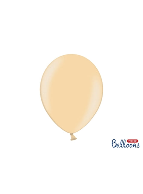 100 extra sterke ballonnen in metallic glimmend oranje (30 cm)