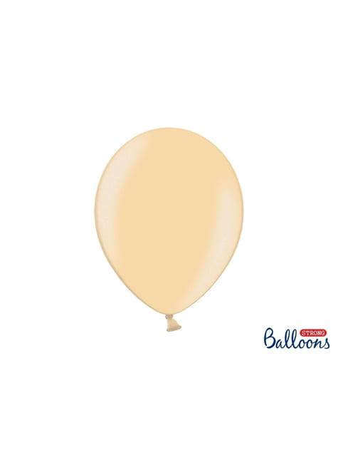 10 extra sterke ballonnen in metallic glimmend oranje (30 cm)
