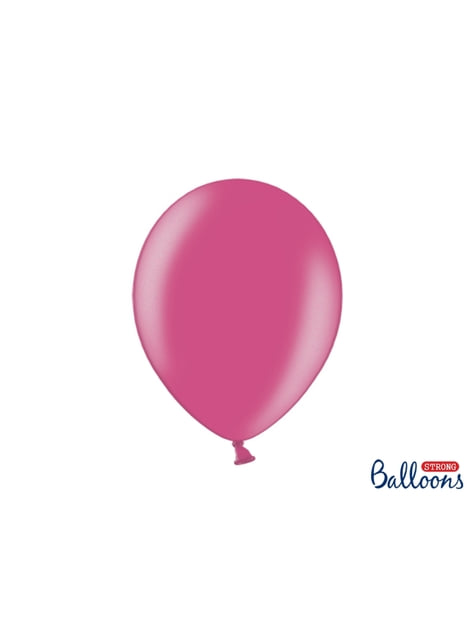 100 extra sterke ballonnen in metallic roze (30 cm)