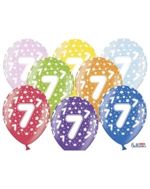 "50 ""7"" Latex Balloons Multicolour (30cm)"