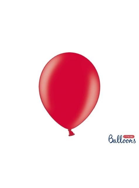 100 extra silných balonků metalicky korálových (30 cm)