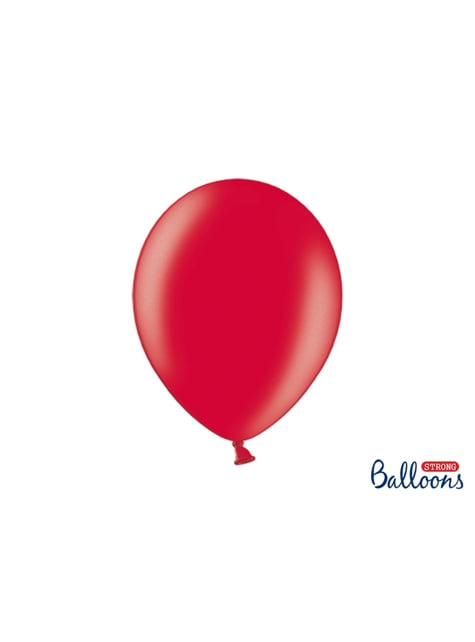 100 Luftballons extra stark metallic-korallenrot (30 cm)