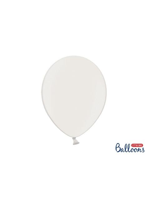 100 palloncini extra resistenti bianco metallizzato (30 cm)
