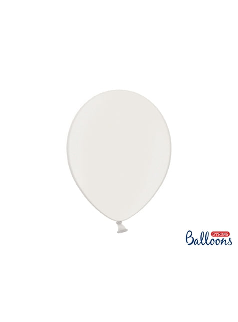 10 extra sterke ballonnen in metallic wit (30 cm)