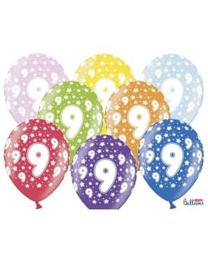 6 ballons en latex