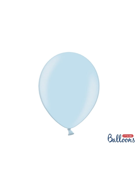 10 extra sterke ballonnen in metallic pastelblauw (30 cm)