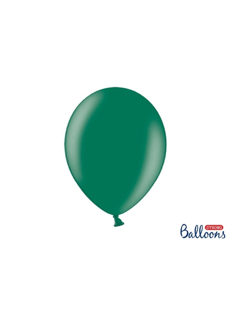 10 extra silných balonků (30 cm) metalicky lahvově zelených