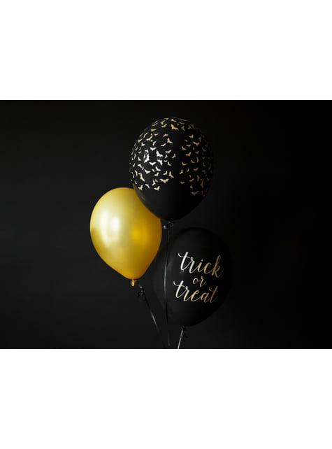 100 ballons extra résistants 30 cm doré métallisé
