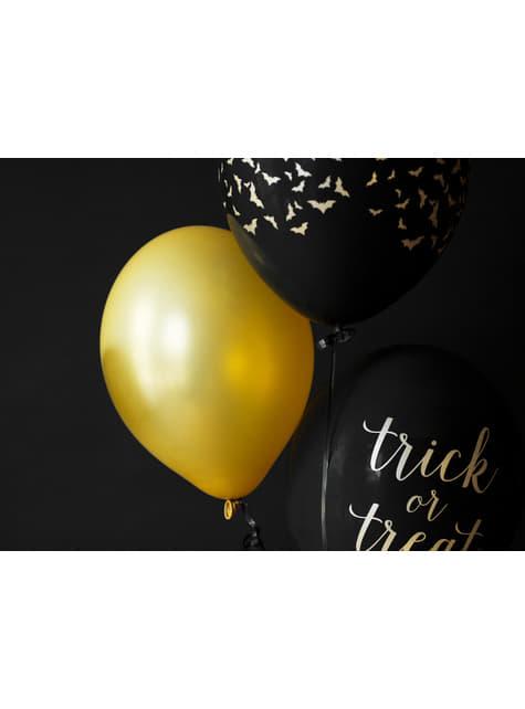 100 globos extra resistentes dorado metalizado (30 cm)