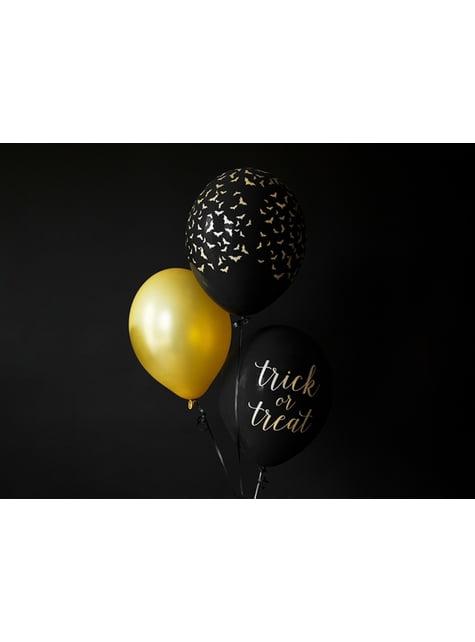 10 błyszczące złote balony extra mocne (30cm)