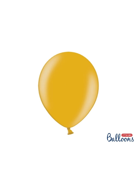 50 extra silných balonků metalicky zlatých (30 cm)