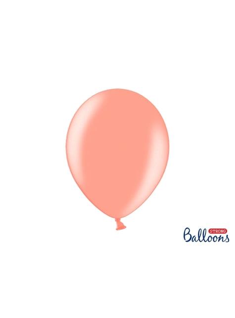 10 extra silných balonků (30 cm) metalicky růžově zlatých