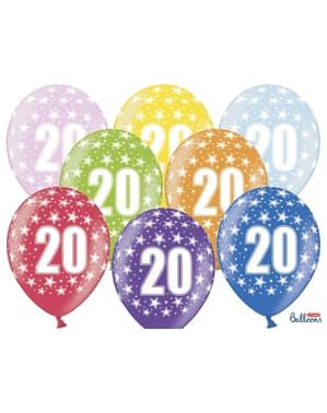 50 balony lateksowe