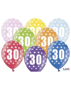 6 balony lateksowe