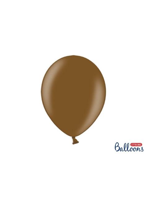100 extra sterke ballonnen in metallic bruin (30 cm)