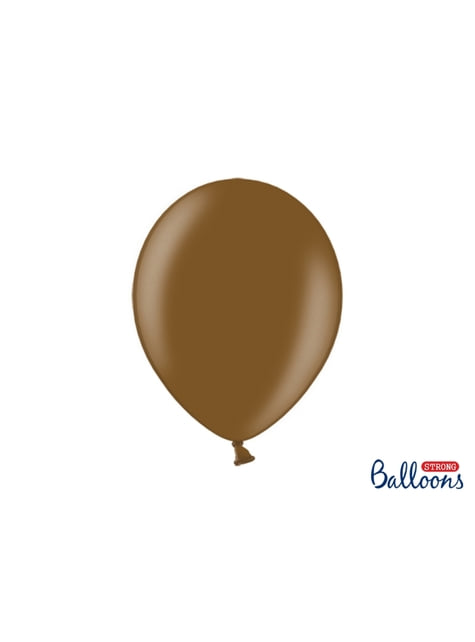 100 globos extra resistentes marrón metalizados (30 cm)
