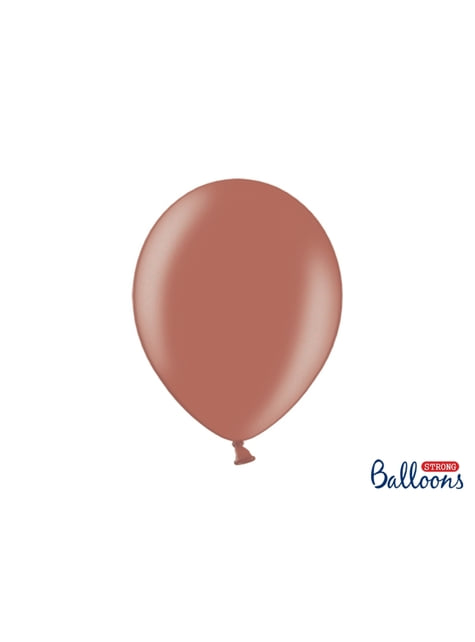 10 palloncini extra resistenti marrone terra metallizzato (30 cm)