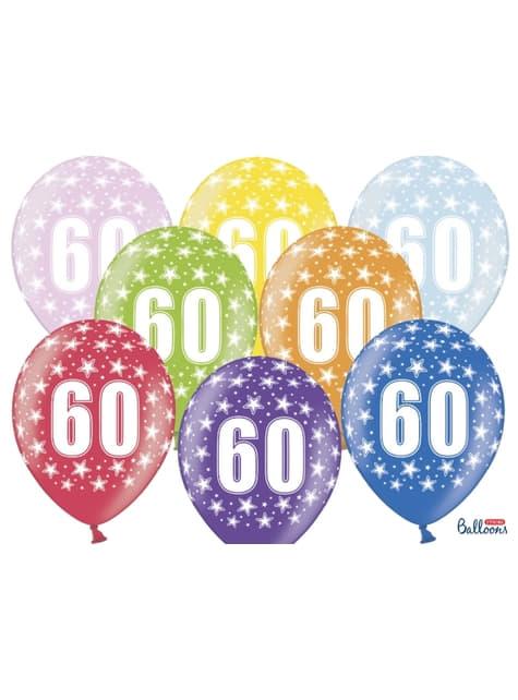 6 balões de latex