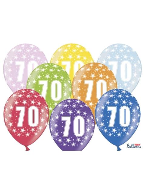 "6 ""70"" Latex Ballonnen Multigekleurd (30cm)"