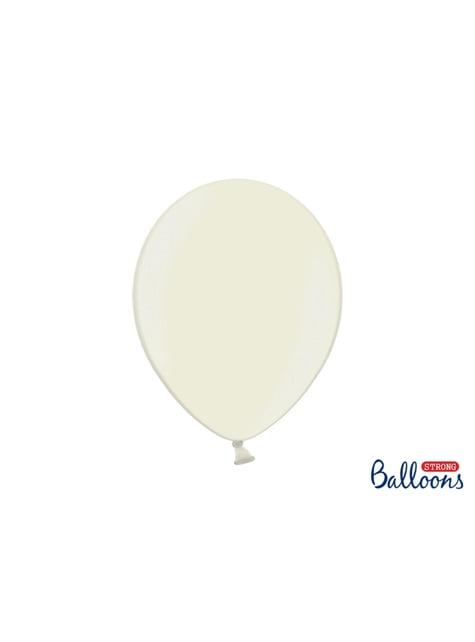 100 globos extra resistentes beige metalizados (30 cm)