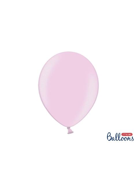 100 globos extra resistentes rosa pastel metalizados (30 cm)