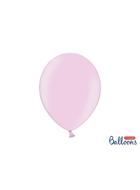 10 extra sterke ballonnen in metallic pastel roze (30 cm)