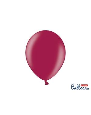 Metalik bordoda 50 ekstra güçlü balon (30 cm)