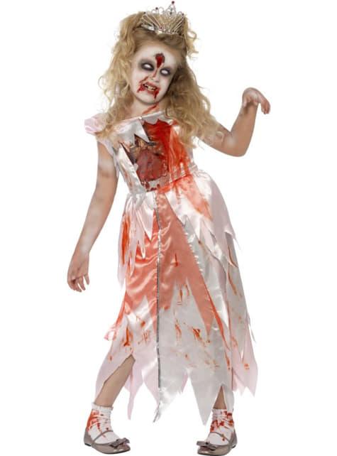 Fato de bela adormecida zombie para menina