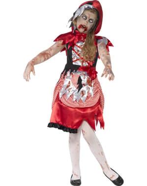 Costum scufița roșie zombie pentru fată