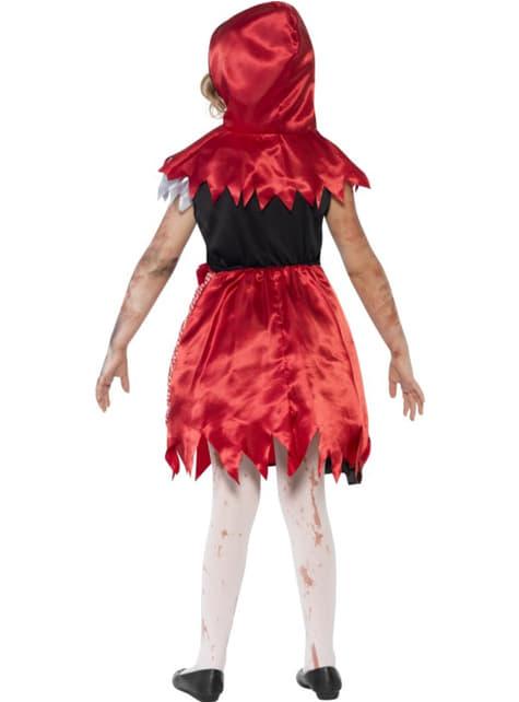 Kostium czerwony kapturek zombie dla dziewczynki