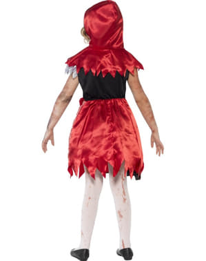 Strój czerwony kapturek zombie dla dziewczynki
