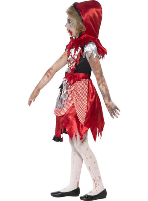 Disfraz de caperucita roja zombie para niña - original