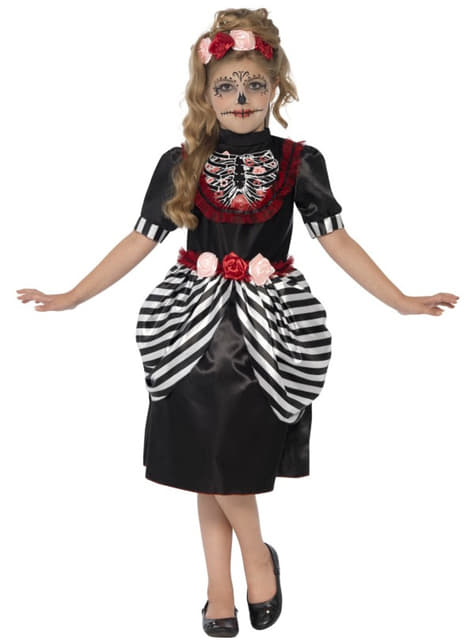 Girls Day of the Dead Catrina Costume