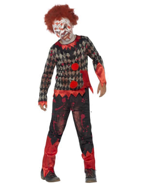 Kostuum zombie clown voor jongens