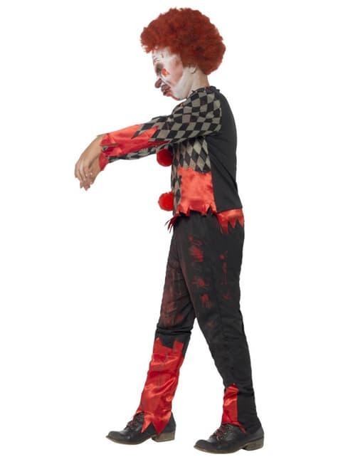 Fato de palhaço zombie para menino