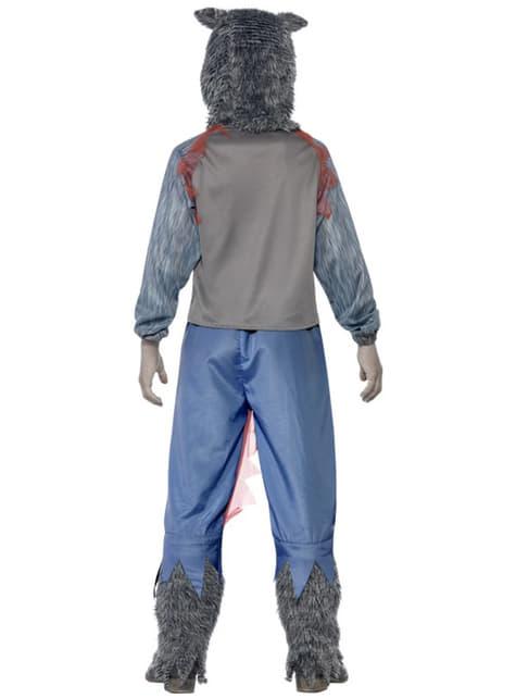 Disfraz de lobo luchador zombie para niño - hombre