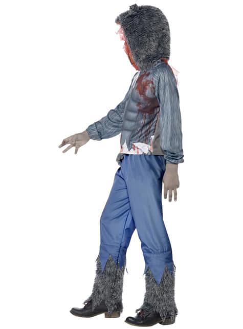 Disfraz de lobo luchador zombie para niño - original