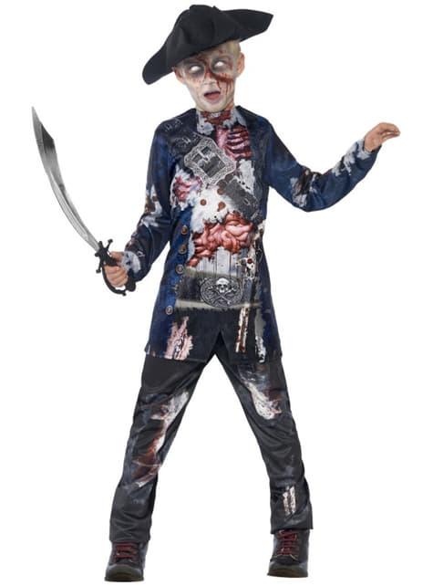 Déguisement pirate zombie deluxe garçon