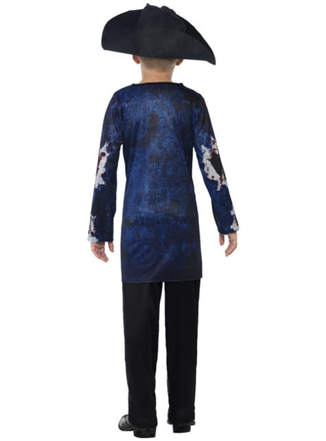 Disfraz de pirata zombie deluxe para niño