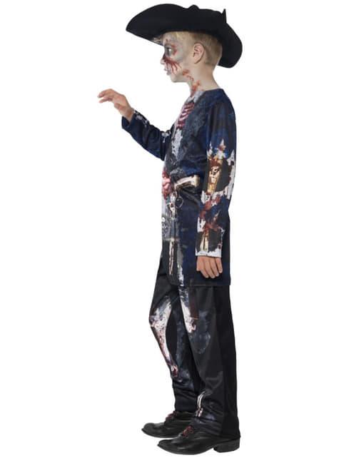 Boys Zombie Pirate Deluxe Costume