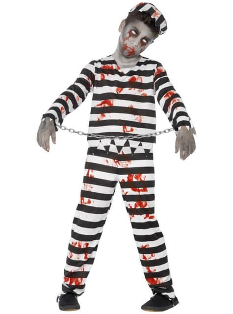 Fato de zombie condenado para menino