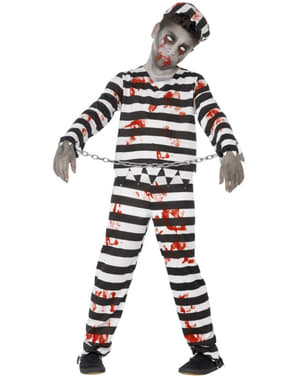 Costum de deținut zombie pentru băiat