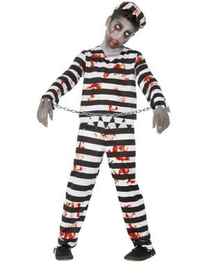 Zombie Sträfling Kostüm für Jungen