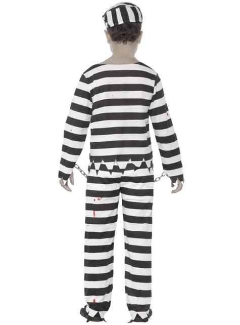 Disfraz de preso zombie para niño - infantil