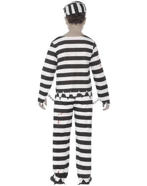 Costume zombie prigionero bambino