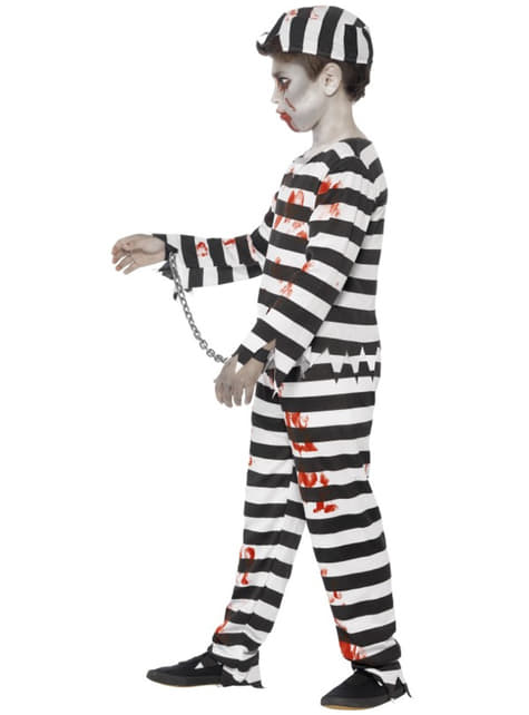 Strój zombie więzień dla chłopca