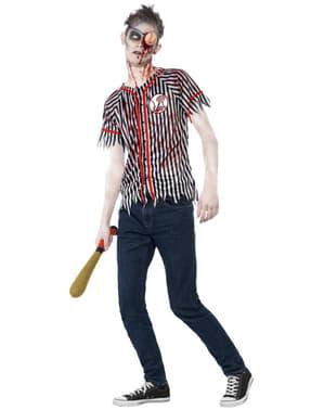 Disfraz de jugador de béisbol zombie para hombre