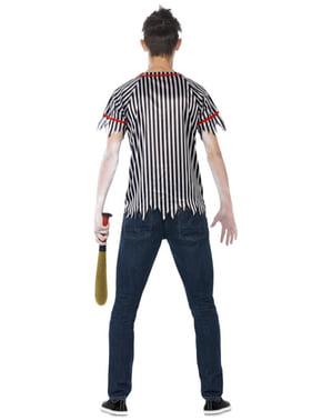 Fato de jogador de beisebol zombie para homem
