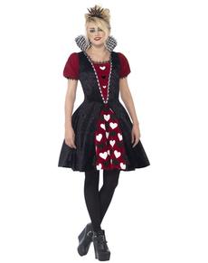 Disfraz de Reina de corazones siniestra para mujer