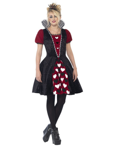 Skummel Hjerter Dronning Kostyme for Dame